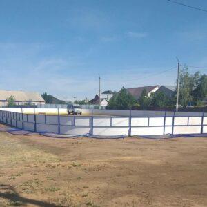 Установлен новый хоккейный корт в с. Подгородняя Покровка